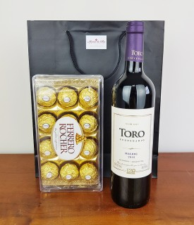 Kit de Vinho e Chocolate Hora do Agrado