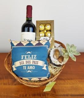 Cesta de vinho Dia dos Pais