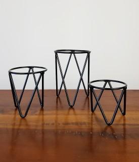 Suporte de ferro para Plantas - TRIO para mesa