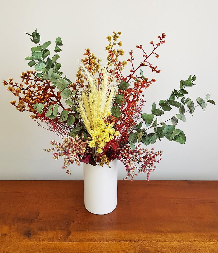 Arranjo com flores secas - Há beleza em tudo