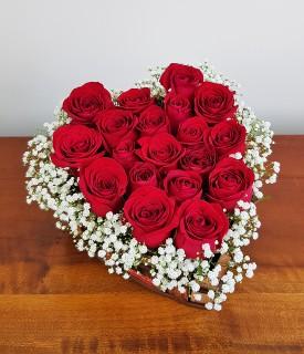 Coração de rosas vermelhas - O coração dispara