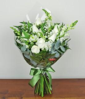 Buquê com flores brancas Lo Mejor para Ti