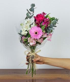 Flores para decorar P - tons de rosa
